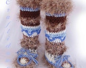 Crochet Slipper Boots Fabulous and Funky Treasury choice