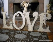 WOOD LETTERS - 24 inches tall - L - O - V - E - Set of 4