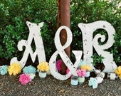 Wedding Guestbook Alternative, Wedding Signs, Guestbooks, WOOD LETTERS, Large Wood Letters, 24 inches tall, Any Letter Available