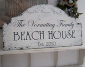 BEACH HOUSE, Lake House Signs, Cabin Signs, Family Signs, 25 x 13