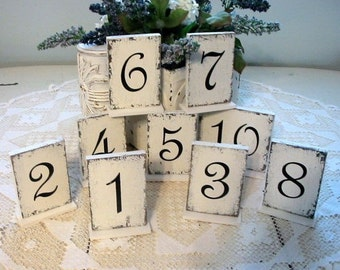WEDDING TABLE Numbers, Wedding Table Decor, REVERSIBLE Signs, Self Standing Signs, Rustic Wedding Signs