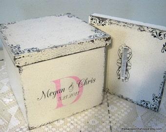 WEDDING Cards / KEEPSAKE / MEMORY Box with 2 Interchangable lids / Custom Made