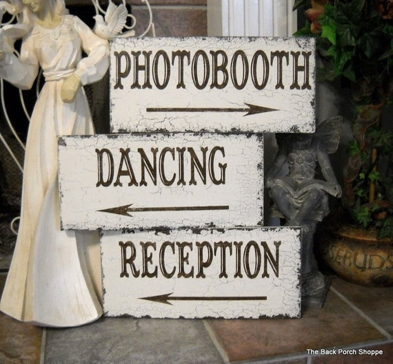 Ideas For Wedding Reception Without Dancing: Items Similar To Wedding Signs