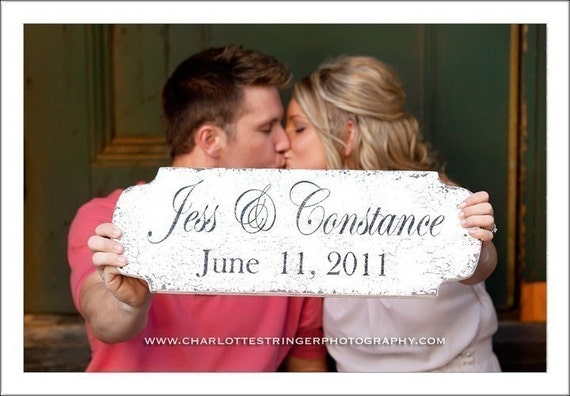 SAVE the DATE Sign, Engagement Sign, Wedding Sign, Bride and Groom Sign, Mr. and Mrs. Sign, Use this sign FOREVER, 22 x 8