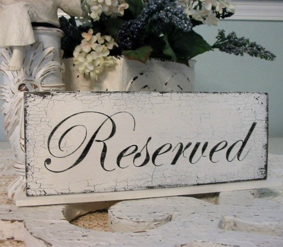 RESERVED Self Standing Shabby Vintage Wedding Table Signs 4