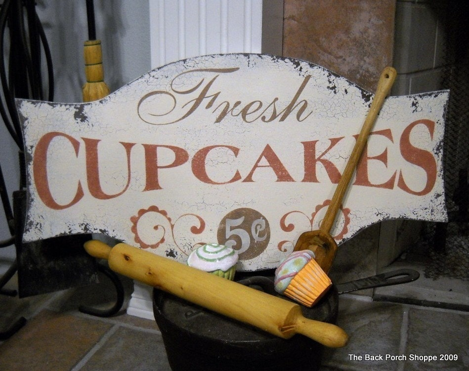 country kitchen signs fresh cupcakes shabby cottage country signs kitchen 2890
