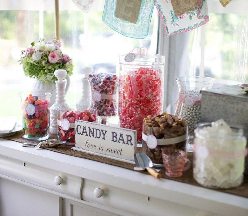 candy bar sign love is sweet wedding signs original design. Black Bedroom Furniture Sets. Home Design Ideas