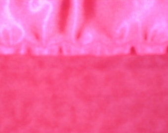 Flannel Hot Pink Tie-Dye Pillowcase