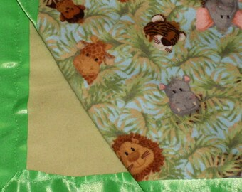 Flannel Jungle Print Baby Blanket