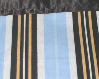 Flannel Blue Stripes Pillowcase