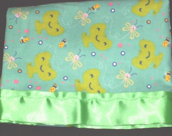 Flannel Frog Pillowcase
