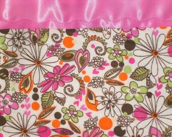 Flannel Pink Print Pillowcase