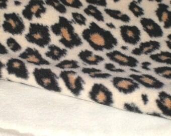Fleece Leopard Print Blanket