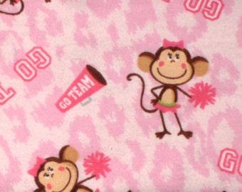 Flannel Pink Cheerleader Pillowcase
