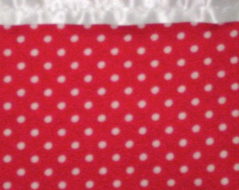 Flannel Red Dot Pillowcase