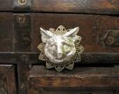 Fox Brooch, Fox Head, Animal Brooch, Woodland Animal Pin, Sweater Pin, Shawl Pin, Animal Accessory, Silver Fox Brooch, Backpack Pin