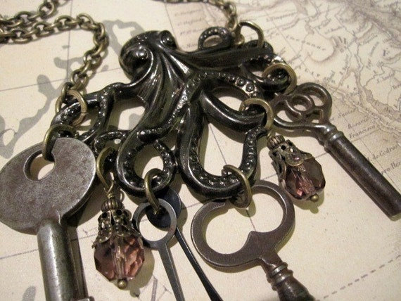 octopus key necklace- on AMERICAN IDOL- unlocked secrets from beneath the sea