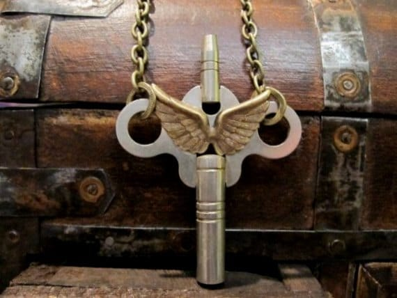 Skeleton Key Necklace - salute to the boys - original