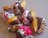 Double dipped mini fortune cookies