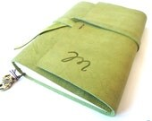 Distressed Leather Journal, Pistachio