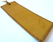 Leather Bookmark, Mustard