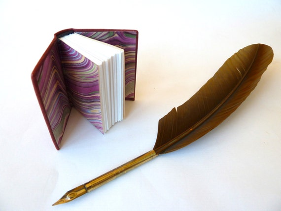 Miniature Leather Book, Burgundy