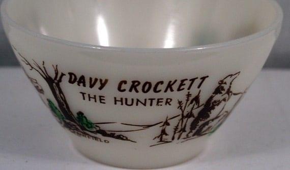 Davy Crockett Fire King bowl vintage