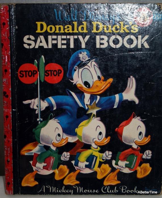 Walt Disneys Donald Ducks Safety Book Little Golden Book Mickey Mouse Club