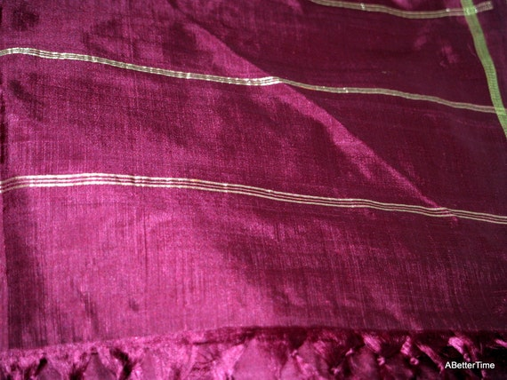 Gorgeous silk sari or home decor curtain