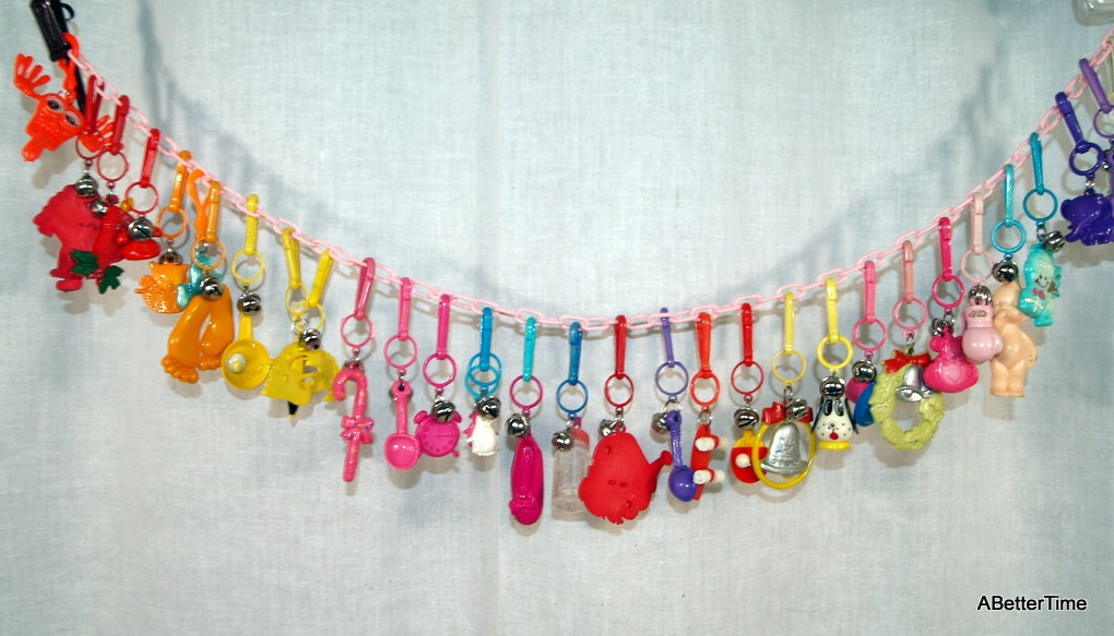 1980s Charm Necklace Plastic