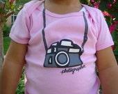 12-18 months Pink Photographer Lap Tee
