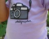 Lavendar Photographer Lap Tee