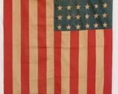 48 Star Vintage American Flag Linen