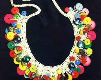 Colorful Button Necklace - PATTERN / INSTRUCTIONS