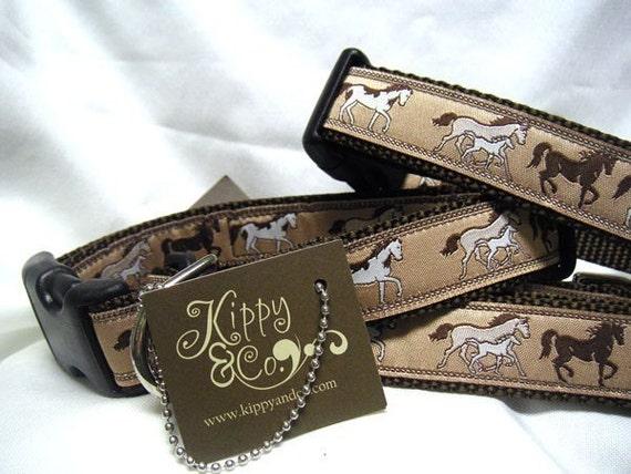 Wild Horses Dog Collar