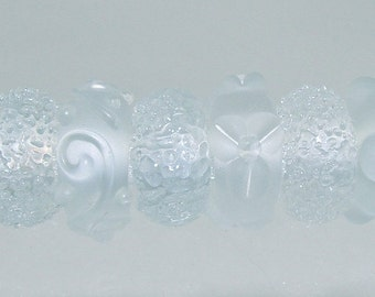 Charm Beads - Large Hole - Frost Set