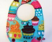 Waterproof - Reversible - Tiny Dribbles Baby Bib- Size 0-9 Months
