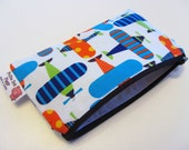 Reusable- Water Resistant - Mini Zipper Bag- Airplanes