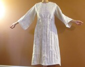 custom fan pleats pure linen dress made to fit listing