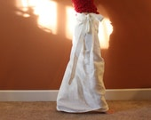 linen asian long wrap skirt with pocket made to order listing