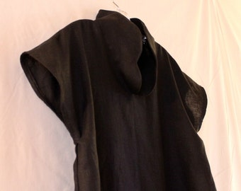 custom heavy linen drop sleeve cloud chipao collar top plus size welcome