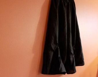 plus size heavy linen rose tuck wide leg pants custom order
