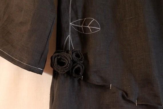 custom roses linen dress made to order listing