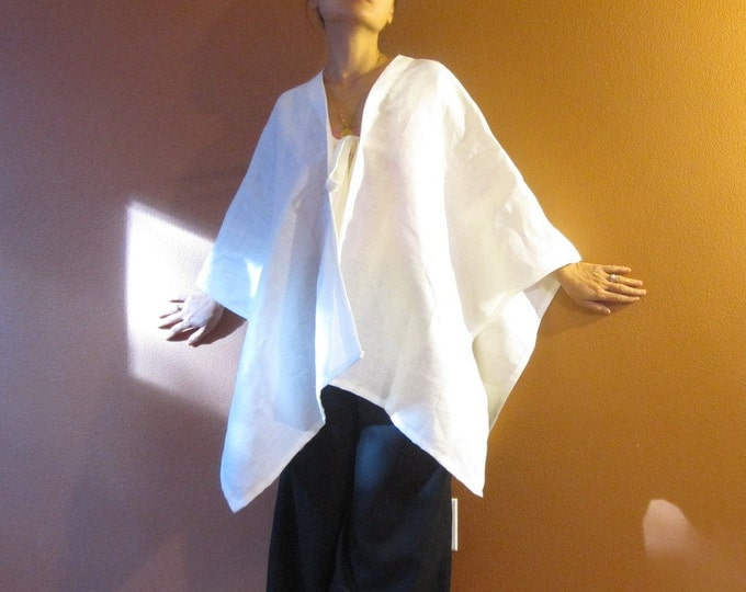 linen origami wrap made to order pick your color plus size fit