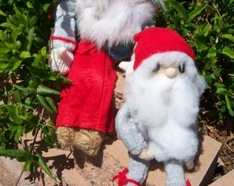 Vintage Swedish Tomte Dolls-Jultomte and Signe