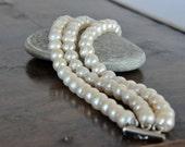 Handmade Wedding Jewelry ,Freshwater Pearl Bracelet , Bridesmaids Gifts Bracelets,Ivory Pearl Bracelet, Vintage Inspired Braceletbridal