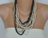 free shipping Etsy NEW Season  Chunky Layered Pearl Necklace