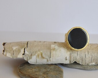 925 Silver Onyx  Gothic  inspired Ring