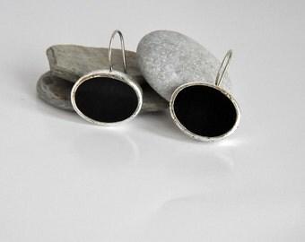 925 Sterling Silver Onyx  Earrings