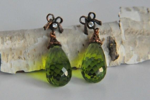 925 Sterling Silver  Tourmaline  Earrings